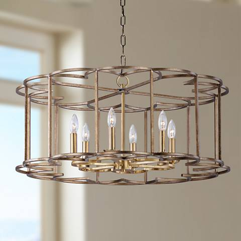 "Maxim Helix 31 1/2"" Wide Bronze Fusion 6-Light Pendant"