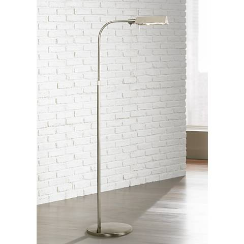 Sonneman Satin Nickel Tenda Pharmacy Adjustable Floor Lamp