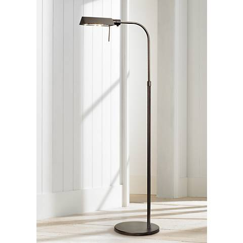 Sonneman Dark Bronze Tenda Pharmacy Adjustable Floor Lamp