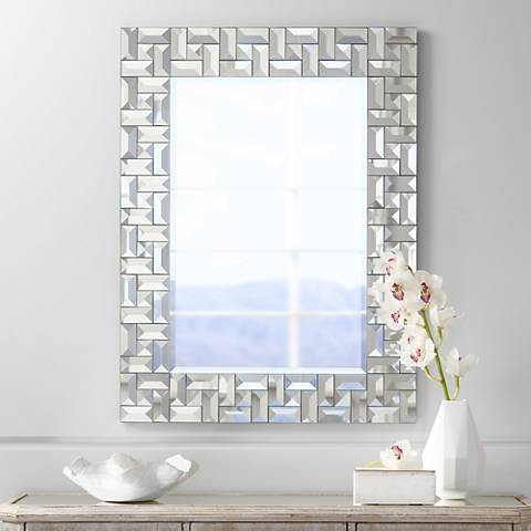 "Hannah 28 3/4"" x 38 1/4"" Rectangular Wall Mirror"