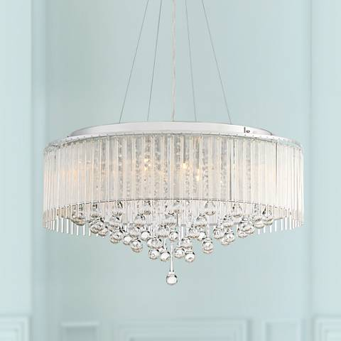 "Ashton 24"" Wide Chrome Crystal Pendant Light"