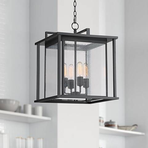 "Stephens 16"" Wide Dark Gray 4-Light Foyer Pendant"