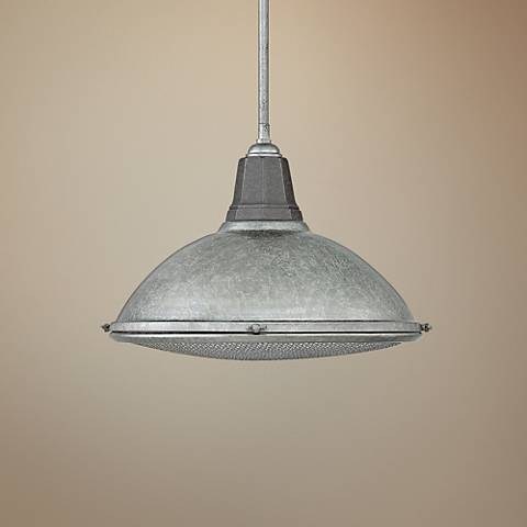 "Hinkley Barstow 16 1/4"" Wide Galvanized Pendant Light"