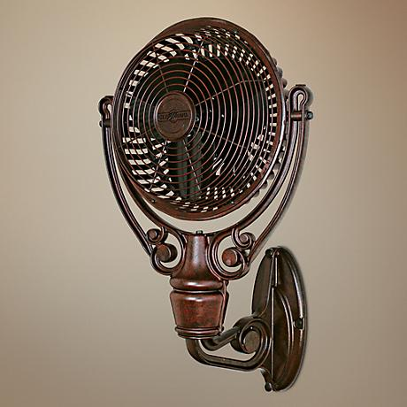 Fanimation Old Havana Rust Finish Wall Mount Fan