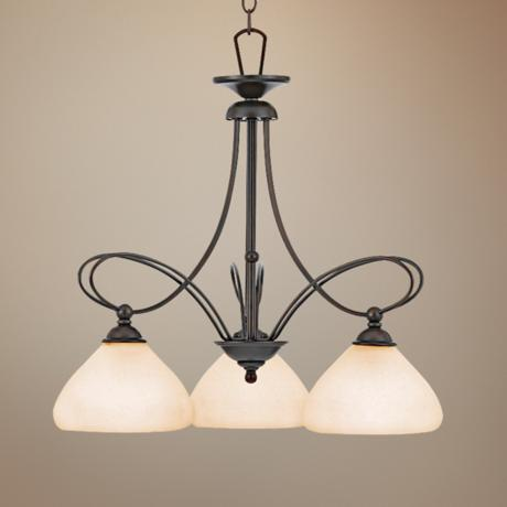 "Denmark Teco Marrone Finish 24"" Wide Chandelier"