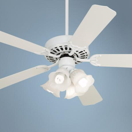 "52"" White Knight™ White Ceiling Fan with Light Kit"