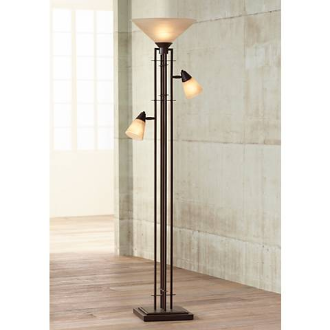 Metro Collection 3 In 1 Torchiere Floor Lamp 27340