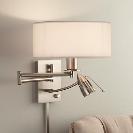 Possini Euro Tesoro LED Reading Swing Arm Wall Lamp - #27377 Lamps Plus