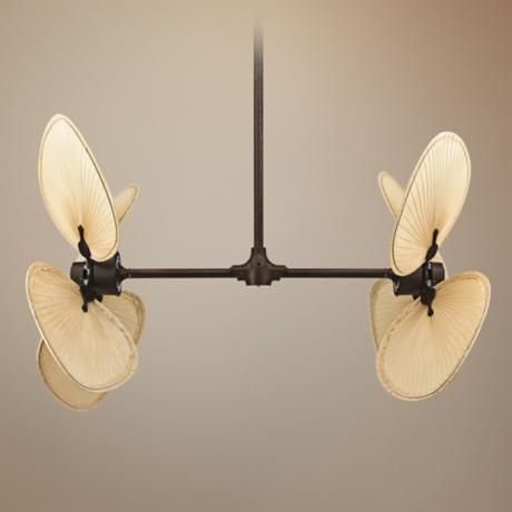 Fanimation Palisade Rust Finish Double Ceiling Fan
