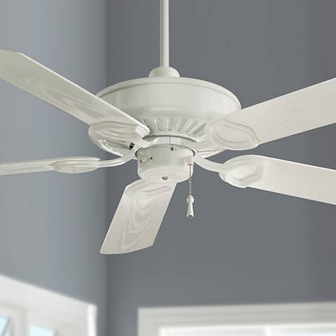 "54"" Minka Aire White Sundowner ENERGY STAR Ceiling Fan"