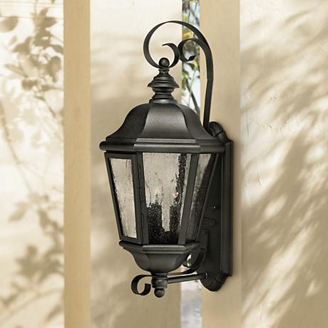 "Hinkley Edgewater Black 21"" High Outdoor Wall Light"
