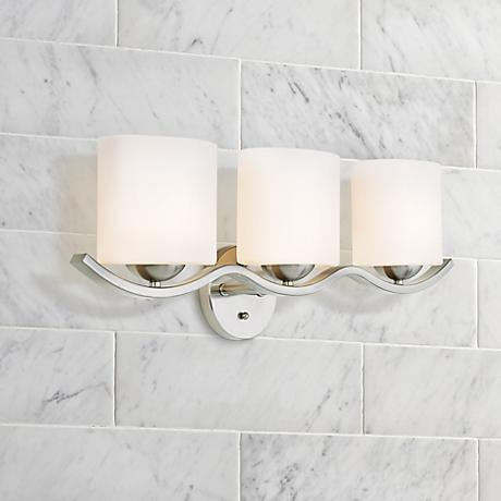 "Possini Euro Design Wave Collection 27 1/4""-W Bathroom Light"