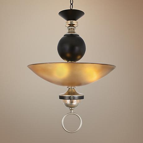 "Serenade 21"" Wide Cafe Noir Silver Pendant Light"