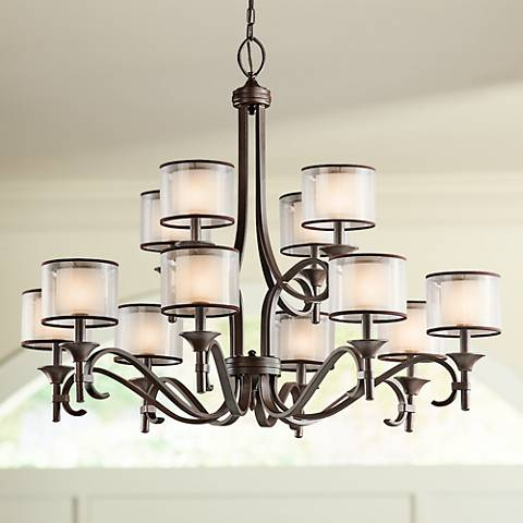 "Kichler Lacey 42"" Wide Mission Bronze Chandelier 2C099"