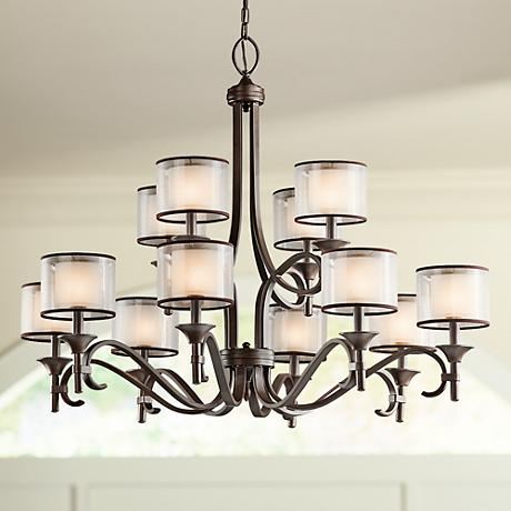 "Kichler Lacey 42"" Wide Mission Bronze Chandelier"
