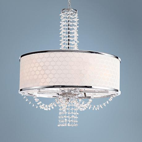 "Allure 20"" Wide Chrome and Crystal Chandelier"