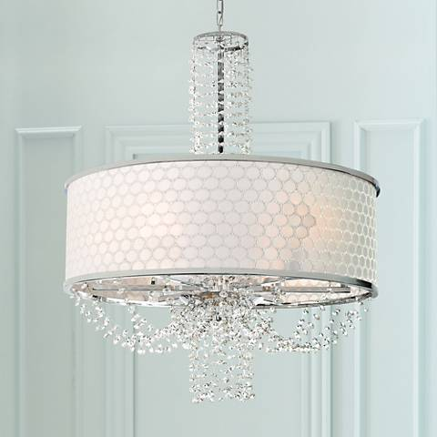 "Allure 24"" Wide Chrome and Crystal Chandelier"