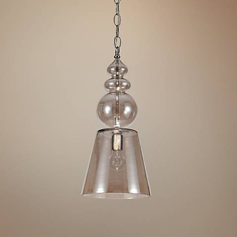 "Harper 10"" Wide Cognac Glass Mini Pendant"
