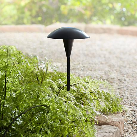 Large Mushroom Black LED Path Light