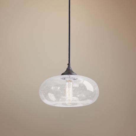 torus one light seeded glass mini pendant 2c651. Black Bedroom Furniture Sets. Home Design Ideas