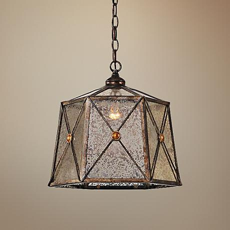 "Uttermost Basiliano 14"" Wide One-Light Pendant Chandelier"