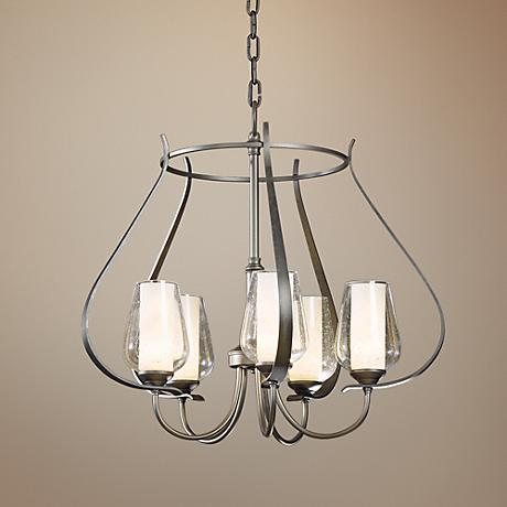"Hubbardton Forge Flora 22 1/4"" Wide Seeded Glass Chandelier"