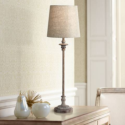 Bentley Weathered Brown Buffet Table Lamp