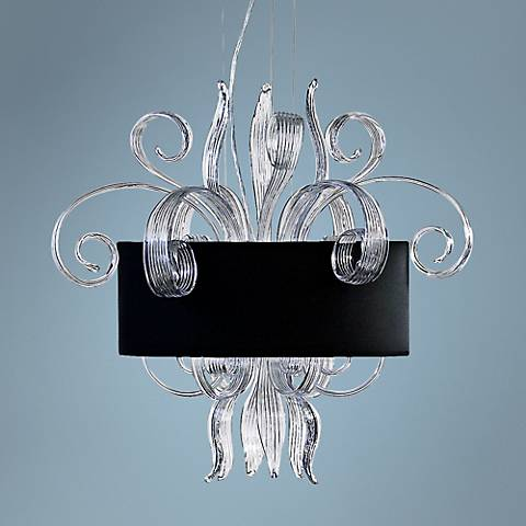 Cassini Jellyfish Clear Glass Pendant Light