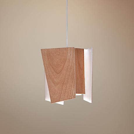 "Cerno Levis Beech 5.5"" Wide LED Pendant"