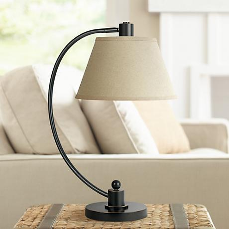 Langer Dark Bronze Metal Arc Desk Lamp