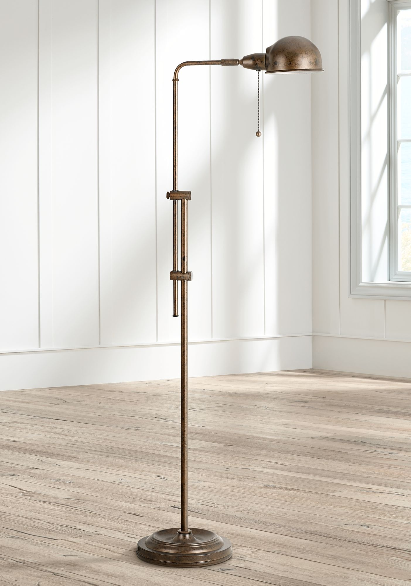 Tamber Rust Adjustable Pharmacy Floor Lamp