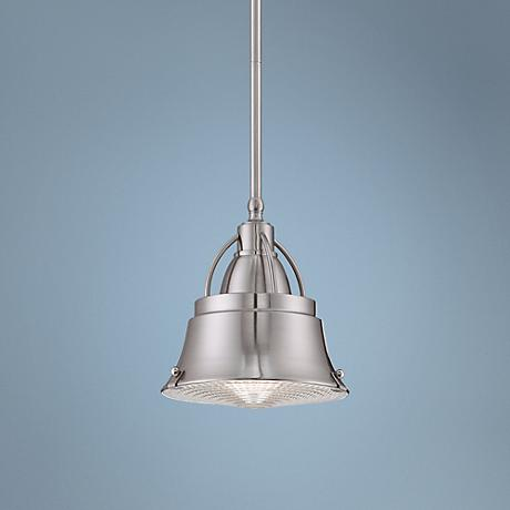 "Quoizel Cody 8"" Wide Nickel Mini Pendant Light"