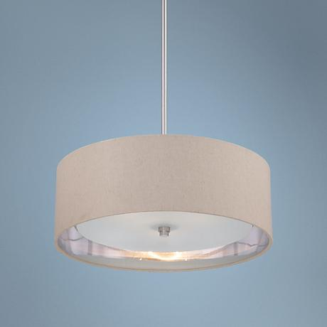 Quoizel Metro Brushed Nickel 3-light Pendant Light