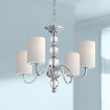 "Quoizel Downtown 4-Light 22"" Wide Chrome Chandelier"