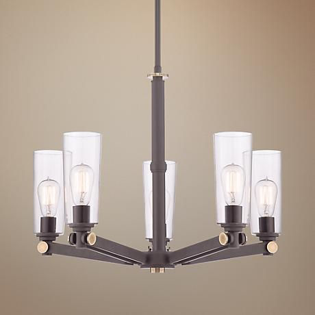 Quoizel Uptown East Village 5-Light Bronze Chandelier