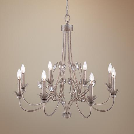 "Quoizel Wesley 8-Light 30"" Wide Italian Fresco Chandelier"