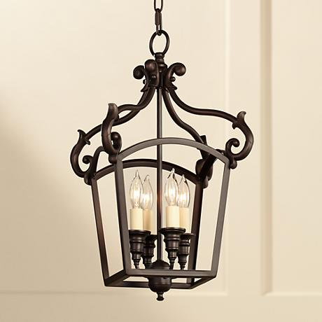 "Feiss Luminary 11 3/4"" Wide Bronze Mini Chandelier"