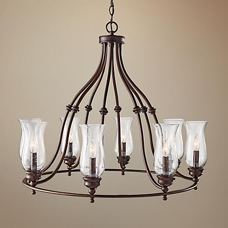 "Feiss Pickering Lane 31 1/2"" Wide 8-Light Bronze Chandelier"
