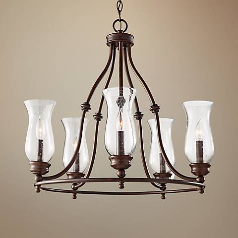 "Feiss Pickering Lane 24"" Wide 5-Light Bronze Chandelier"