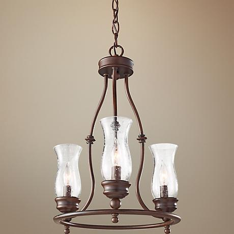 "Feiss Pickering Lane 15"" Wide 3-Light Bronze Mini Chandelier"