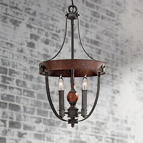 "Feiss Alston 12"" Wide Rustic Industrial Chandelier"