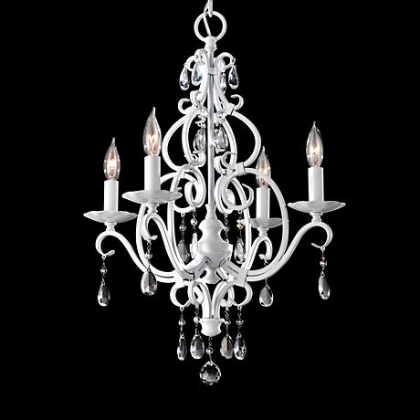 "Feiss Chateau Blanc 16 3/4""W White Mini Chandelier"