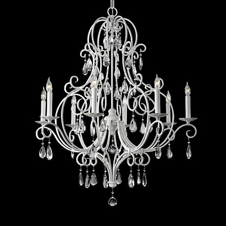 "Feiss Chateau Blanc 32"" Wide White Chandelier"