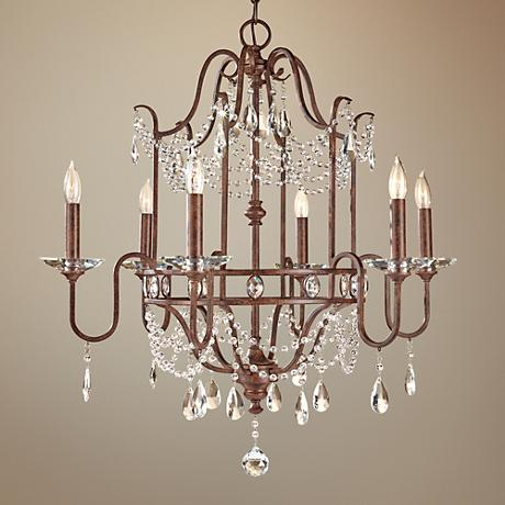 "Feiss Gianna Scuro 26 1/4"" Wide Bronze Chandelier"