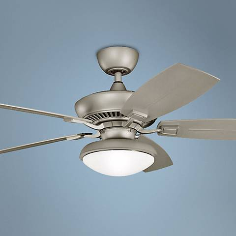 "52"" Canfield Climates™ Silver Light Outdoor Ceiling Fan"