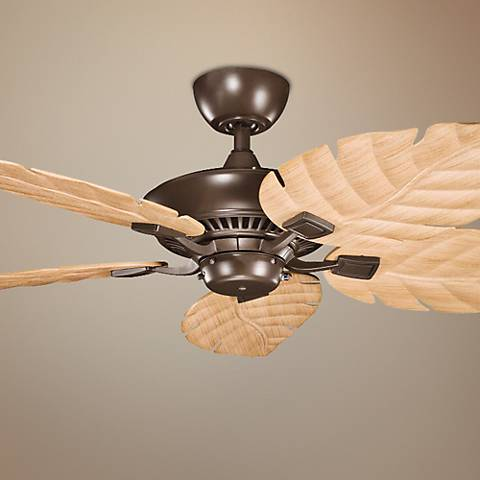 "52"" Canfield Climates™ Mocha - Oak Outdoor Ceiling Fan"
