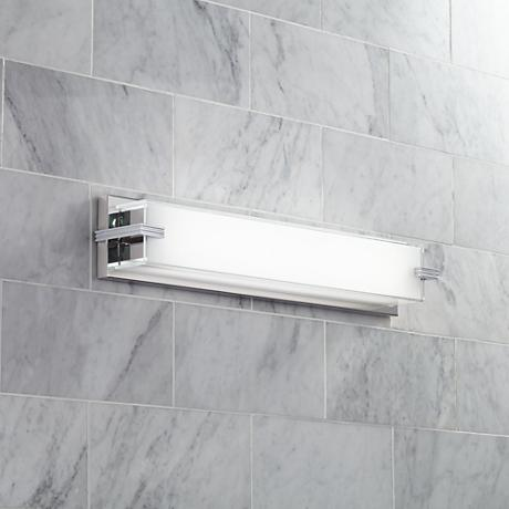 "George Kovacs Cubism 24"" Wide Chrome LED Bath Light"