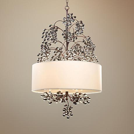 "Winterberry 4-Light 22"" Wide Darkwood Pendant Light"