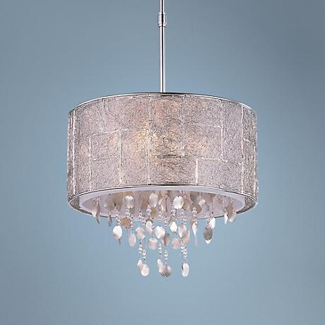 "Allure 16"" Wide Polished Nickel Pendant Chandelier"