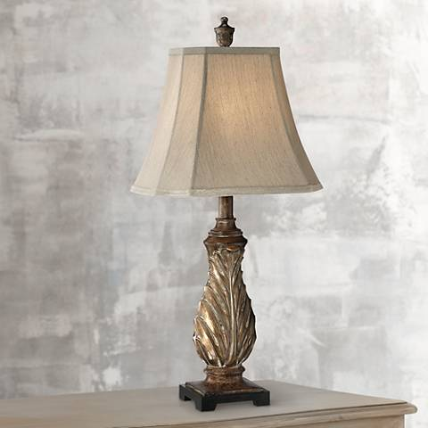 Tulip Gold Traditional Table Lamp